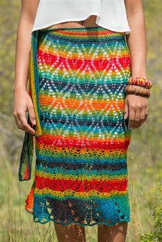 This lace crochet skirt is fun. Paintbrush Skirt