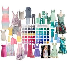 LIGHT cool Summer Colors to Wear | fashion look from May 2013 featuring Alice + Olivia dresses ...