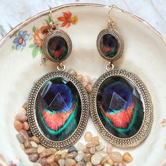 Pretty Plumage Drop Earrings