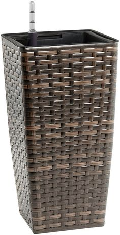 Gartenfreude Resin Wicker Planter with Watering System - Bicolour Brown Finish ** Click image for more details. #GardenFurnitureandAccessories