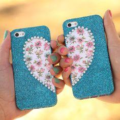 iLovetoCreate® Best Friends Phone Cases #valentine #heart #craft