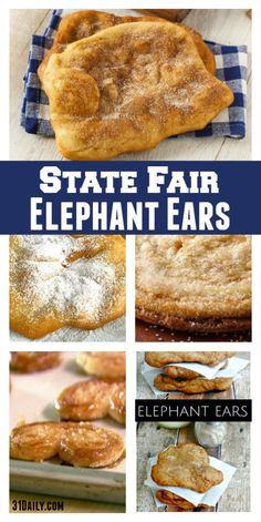 Top State Fair Food: Elephant Ears What is the first thing you gravitate to at your local fair? Is it rides, exhibits… or food? And if it's food–I can guess Elephant Ears would be right up there. In fact… Tim… Donut Recipes, Cooking Recipes, Bread Recipes, Fried Bread Recipe, Crockpot Recipes, Healthy Recipes, Elephant Ears Recipe, Elephant Ear Recipe No Yeast, Elephant Ear Pastry