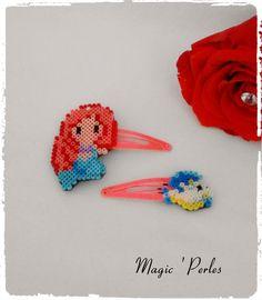 """Barrettes collection Princesse """"Sirène"""" : Accessoires coiffure par magic-perles"""