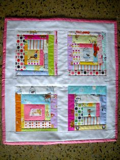 Cute log cabin quilt