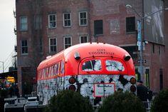 #yearofpattern follow that bus. Kate Spade bus!