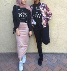 Pencil skirt with jacket-Winter hijab outfits in prude and style looks – Just Trendy Girls