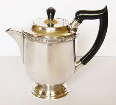 Vintage VINERS ALPHA PLATE Silver Plated 1.5 Pint TEA Coffee POT BAKELITE Handle Silver Plate, Handle, Tea, Coffee, Tableware, Vintage, Kaffee, Dinnerware, Silverware Tray