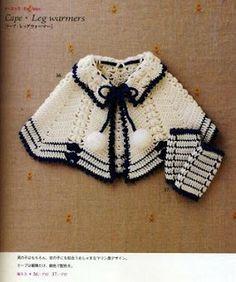 Croche pro Bebe: Capas e ponchos
