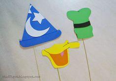 Disney Photo Booth Props - Mickey's Sorceror Hat, Donald Duck, Goofy #DisneySide