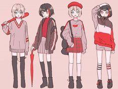 Cute Anime Character, Cute Characters, Anime Characters, Manga Girl, Manga Anime, Anime Art, Anime Girl Short Hair, Anime Dress, Japanese Cartoon