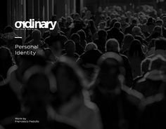 """Check out new work on my @Behance portfolio: """"Ordinary // Personal Identity Project"""" http://be.net/gallery/44856094/Ordinary-Personal-Identity-Project"""