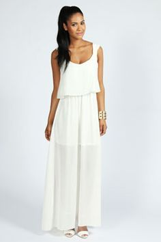 Tessa Strap Detail Double Layer Maxi Chiffon Dress  Product code: azz48632    Please wait while the data loads              Price US$40.00