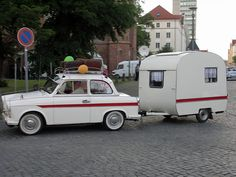 Trabant P50 mit Wohnwagen by www.nb-fotos.de