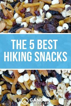 Here are some snack items that you can dress up to be more exciting and will get you through a long rigorous hike. You'll be sure to find at least one thing that you like on this list. Check out these 5 best hiking snacks! Camping Meals, Camping Tips, Camping Activities, Family Camping, Hiking Food, Hiking Tips, My Favorite Food, Favorite Recipes, Kitchens