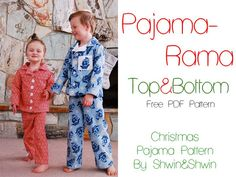 Pajama Rama! Christmas Pajamas {Free PDF Pattern} - Shwin&Shwin