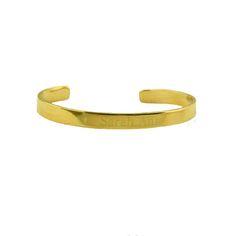 *Goldtone Mini ID Cuff $29