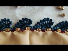 Basic Embroidery Stitches, Hand Embroidery Videos, Crochet Stitches Patterns, Crochet Designs, Saree Kuchu New Designs, Saree Tassels Designs, Blouse Designs, Mehndi Designs For Beginners, Hand Work Blouse Design