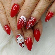 Snowman nails by MisAshton from Nail Art Gallery Snowman nails by MisAshton from… Red Christmas Nails, Xmas Nails, Valentine Nails, Halloween Nails, Winter Nail Art, Winter Nails, Summer Nails, Gel Nail Art, Acrylic Nails
