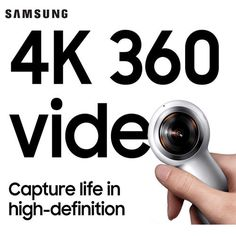 NEW SAMSUNG 2017 Gear 360 SM-R210 Compact Design Camcorder Camera Galaxy S8 S8