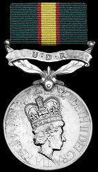 ODM of the United Kingdom: Ulster Defence Regiment Medal Yellow Stripes, United Kingdom, British, Military, The Unit, England, Military Man, Army