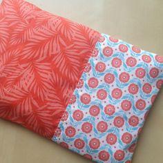 Bouillotte sèche déhoussable rectangulaire aux noyaux de cerise en tissu orange