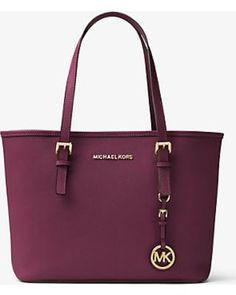 Michael Kors Michael Kors Jet Set Travel Saffiano Leather Small Tote, Women's, Plum(Purple) from Michael Kors - Ecommerce | ShapeShop