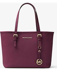 Michael Kors Michael Kors Jet Set Travel Saffiano Leather Small Tote, Women's, Plum(Purple) from Michael Kors - Ecommerce | ShapeShop