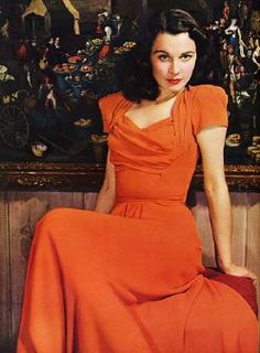 Vivian leigh. I love the color and fit of this dress. I need to find some new vintage stores