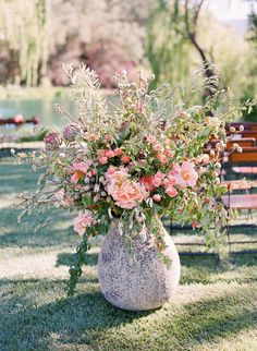 Elegant Picnic Wedding with a Fresh Color Palette  Read more - https://www.stylemepretty.com/2014/03/24/elegant-picnic-wedding-with-a-fresh-color-palette/