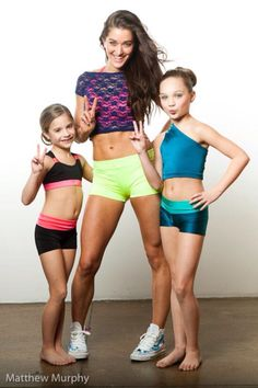 Mackenzie and Maddie Ziegler Modelling for Oxygen Dance Wear (2012) I've never seen this pic before!