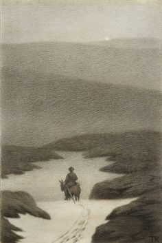 Theodor Kittelsen This is so nice and smooth Most Popular Artists, Great Artists, Gravure Illustration, Illustration Art, Theodore Kittelsen, Nordic Art, Art Database, Design Graphique, Nature Paintings