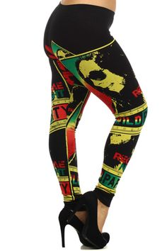 """Our Plus Size Vintage Bob Marley Leggings need very little explanation.  These fabulous cotton leggings are going to be a standout classic in your collection of leggings this season.  The wonderful Bob Marley print comes in two colors, black or white, and is sprinkled with the love and good times of a Bob Marley Reggae party.  Wear these leggings around town and be prepared for the looks, the compliments and the """"Oh, where did you get them?"""".  Its a collector's fashion piece if there ever ... Bob Marley Birthday, Bob Marley Shirts, Vintage Bob, Plus Size Vintage, Cotton Leggings, Big And Beautiful, 21st Birthday, Birthday Ideas, My Style"""