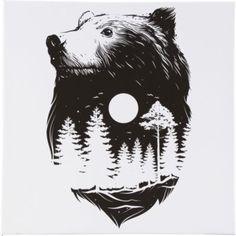 Canvas 60x60 cm Bear Moon