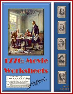 3 Different Worksheets for use with the movie musical, 1776, which vividly illustrates the drafting, debates, and passage of the Declaration of Independence. With these 1776 Movie Worksheets, students can be separately quizzes on the beginning, middle, and end of the movie.