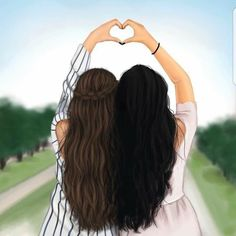 Funny quotes about friendship and drinking people ideas - Bff Pictures Best Friend Drawings, Girly Drawings, Fall Drawings, Pencil Drawings, Bff Pictures, Best Friend Pictures, Friends Sketch, Sarra Art, Girly M