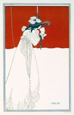 Isolde (1895) by Aubrey Beardsley.  (via)