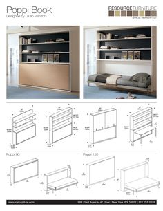 Poppi Book | Resource Furniture | Wall Beds & Murphy Beds