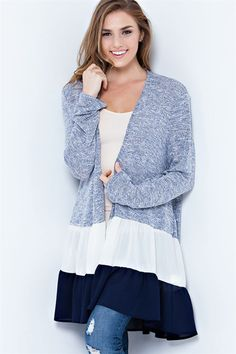 pretty flared cardigan