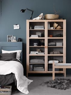 The Everygirl's 11 Favorite Pieces from Ikea & How to Style Them. Cosy home. Hygge home. Home decor ideas. Ikea Inspiration, Interior Design Inspiration, Design Ideas, Ikea Bedroom, Cozy Bedroom, Bedroom Decor, Bedroom Ideas, Bedroom Storage, Interior Ikea