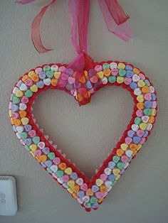 Valentine candy wreath