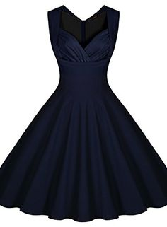 Miusol® Women's Cut Out V-Neck Vintage Casual 1950'S Retro Bridesmaid Dress (Small, Navy Blue) Miusol http://www.amazon.com/dp/B014COXRT0/ref=cm_sw_r_pi_dp_GKW7wb040GY04