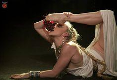 The Lettingo Cabaret # ORFEO ACADEMIA. #Paris #cabaret #contorsion #greek #goddess #grapes