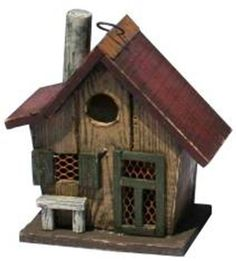 Birdhouses  Garden Decoration HT10150MS Birdhouse, 10-Inch, Mustard Porch Makeover -- This is an Amazon Associate's Pin. View the item in details by clicking the VISIT button