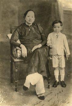 Portrait de Mme Truong Van Bên et de Truong Khac Huê (1926)
