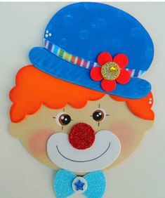 Foam Crafts, Preschool Crafts, Crafts For Kids, Clown Party, Circus Party, Carnival Themes, Party Themes, Clown Crafts, Valentine Day Crafts