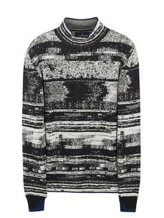 STONE ISLAND SHADOW PROJECTMock Neck Glitch Effect Sweater Alter the neck on this and you've got one sick piece of knitwear!