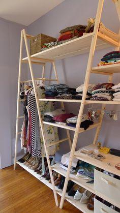 Tanto si eres un manitas como si no, te encantará hacer esta sencilla y práctica estantería con dos escaleras