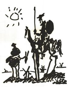 Don quijote and sancho panza, picasso