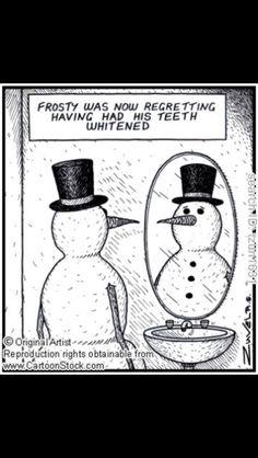 Dental Christmas Humor with the #Snowman! Smile Savvy, dental internet marketing @ www.smilesavvy.com #SmileSavvy #dentalinternetmarketing