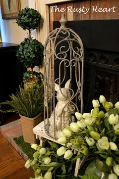 Rusty Heart Designs: Spring Mantel